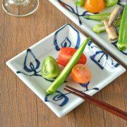 和食器・砥部焼 花文の正角皿