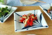 和食器・砥部焼 草文の正角皿