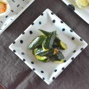 和食器・砥部焼 豆しぼりの正角皿