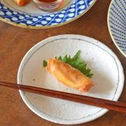 和食器・砥部焼 くねくねラインの取皿(5寸)