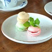 和食器・砥部焼 縁紅の丸皿(6寸)