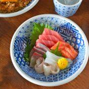 和食器・砥部焼 しょんずい柄の玉縁浅鉢(6寸)