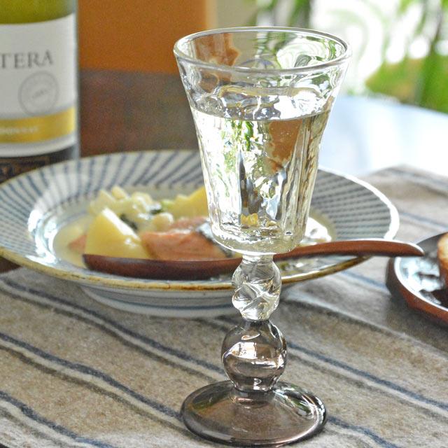吹きガラス・村上恭一 六角ワイングラス