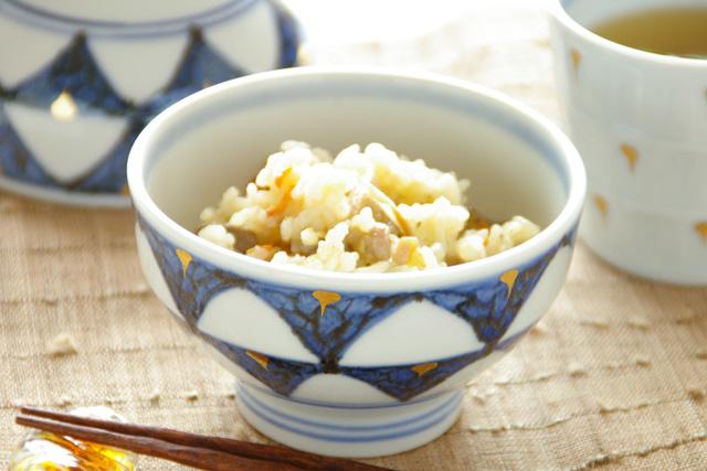 和食器・砥部焼 ゴスペン柄の茶碗