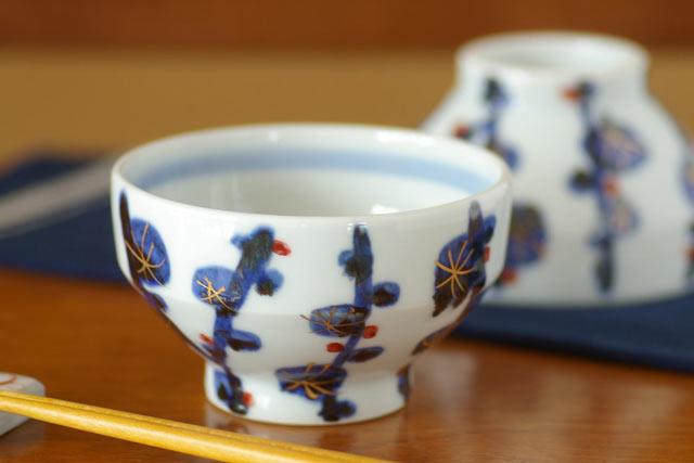 和食器・砥部焼 梅林の茶碗