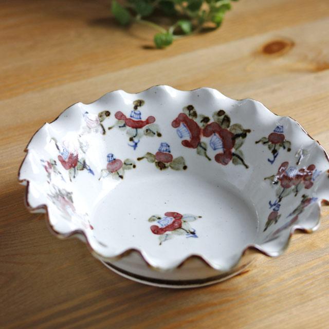 和食器・砥部焼 中田窯の花輪鉢