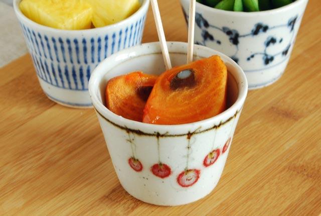 和食器・砥部焼 吊るし柿のそばちょこ(小)