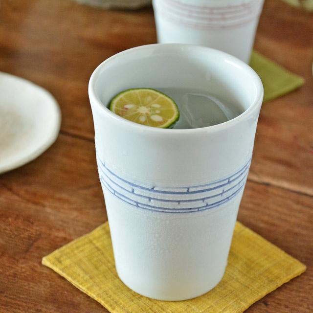【砥部焼 南光窯】蒼色紋のフリーカップ