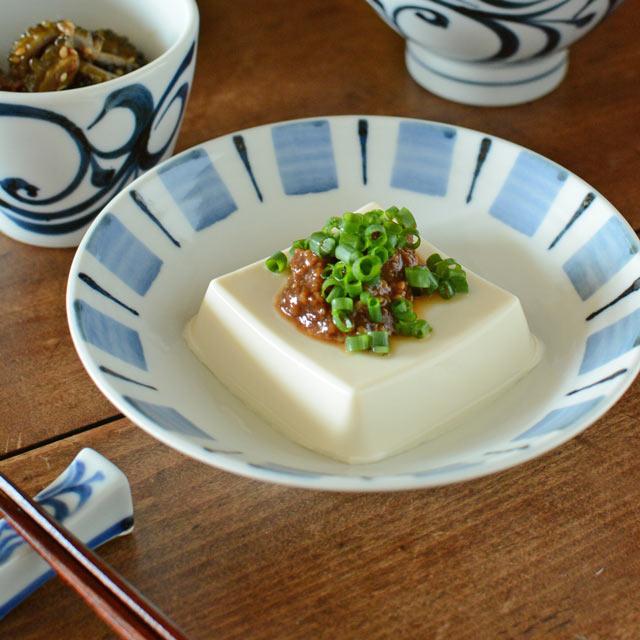 和食器・砥部焼 はけめ文の広鉢(5寸)