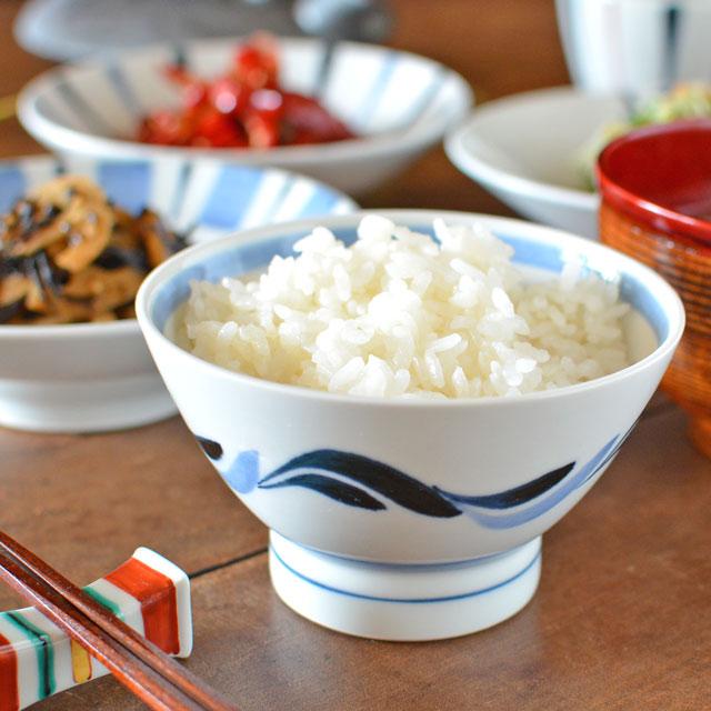 和食器・砥部焼 青波の茶碗(小)