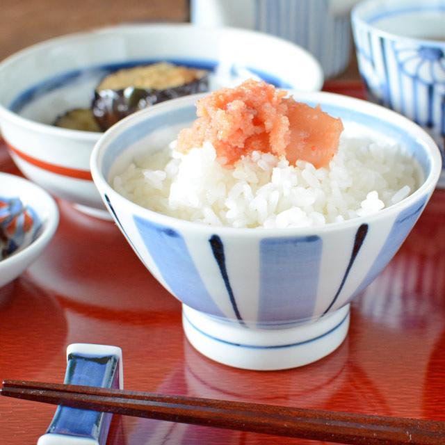 和食器・砥部焼 はけめ文の茶碗(小)