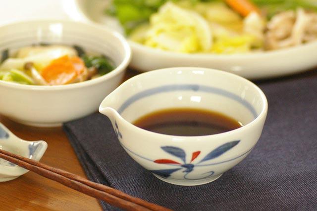 【砥部焼 千山窯】上絵とんぼの片口鉢