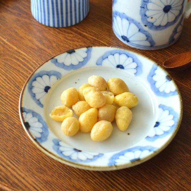 和食器・砥部焼 皐月窯のリム付皿(4寸)