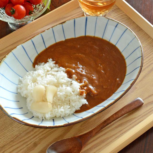 和食器・砥部焼 鉄巻とくさのカレー鉢