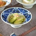 和食器・砥部焼 染付花の縁付鉢(4寸)