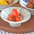 和食器・砥部焼 線文の縁付鉢(4寸)
