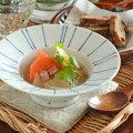 和食器・砥部焼 線文の縁付鉢(5寸)