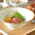 和食器・砥部焼 しのぎの縁付鉢(6寸)