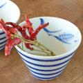 和食器・砥部焼 麦と独楽の小鉢(大)