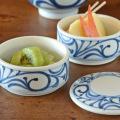 和食器・砥部焼 からくさの二段ふた物(小)