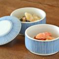 和食器・砥部焼 とくさ柄の二段ふた物(小)