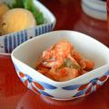 和食器・砥部焼 ごす赤菊の四方鉢(3寸)