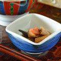 和食器・砥部焼 藍色の四方鉢(3寸)