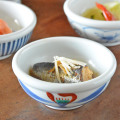 和食器・砥部焼 赤花の玉ぶち鉢(3寸)