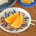 和食器・砥部焼 あか花の取皿(4.6寸)
