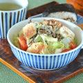 和食器・砥部焼 とくさ柄の多用鉢(4.7寸)