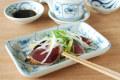 和食器・砥部焼 なずなの長角皿(5.2寸)