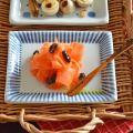 和食器・砥部焼 とくさ柄の布目角皿(4.6寸)