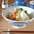 和食器・砥部焼 からくさの反丼鉢(6.5寸)