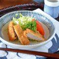 和食器・砥部焼 とくさ柄の深皿(6寸)