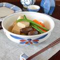 和食器・砥部焼 ごす赤菊の平鉢(6寸)