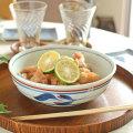和食器・砥部焼 みつ葉の平鉢(6寸)