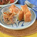 和食器・砥部焼 とくさ内唐草の切立丸皿(6寸)