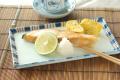 和食器・砥部焼 ごす赤線の長方皿(7.2寸)