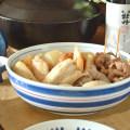 和食器・砥部焼 ごす巻赤線の平鉢(7寸)