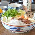 和食器・砥部焼 みつ葉の平鉢(7寸)