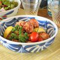 和食器・砥部焼 流れ菊の平鉢(7寸)