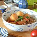 和食器・砥部焼 内外太陽の平鉢(7寸)