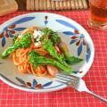 和食器・砥部焼 ごす赤菊の大皿(7寸)