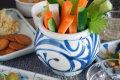 和食器・砥部焼 からくさの丸深鉢