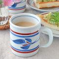 和食器・砥部焼 みつ葉の切立マグカップ