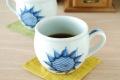 和食器・砥部焼 ひまわりの丸ミルクカップ