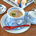 和食器・砥部焼 からくさの茶碗蒸し