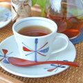和食器・砥部焼 赤蝶文のコーヒーカップ