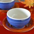 和食器・砥部焼 藍色の手引丸湯呑