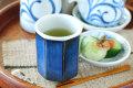 和食器・砥部焼 藍色の八角湯呑(小)